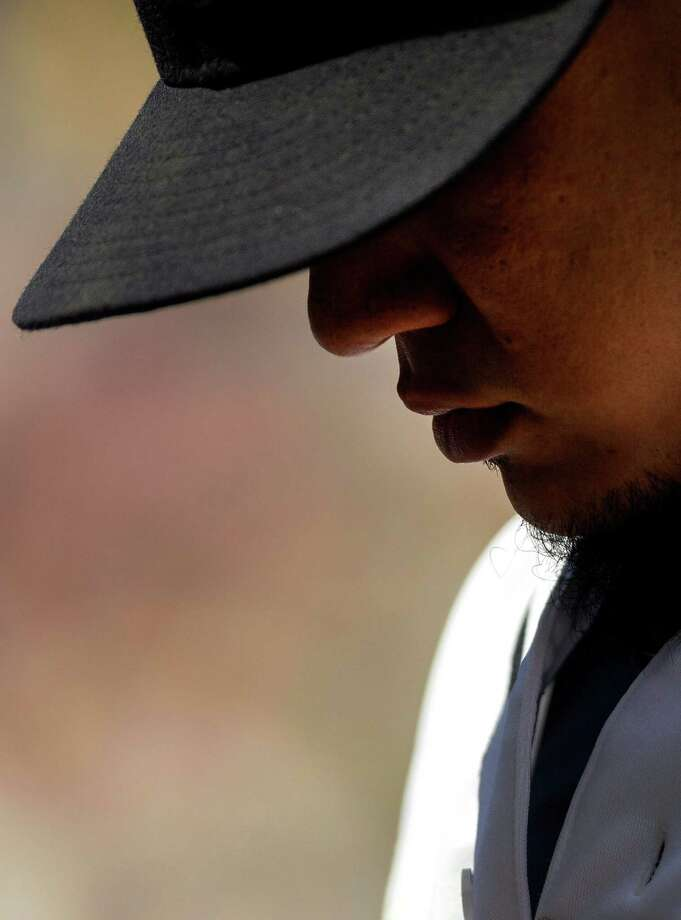 June 9, 2013— Mariners pitcher Felix Hernandez walks back to the dugout following the first inning of a game against the New York Yankees at Safeco Field in Seattle. Nearly 44,000 people attended the sunny day game, and the New York Yankees beat the Mariners 2-1. Photo: JORDAN STEAD, SEATTLEPI.COM / SEATTLEPI.COM
