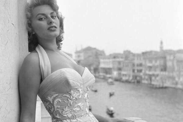 Sophia Loren, Venice, 1955.