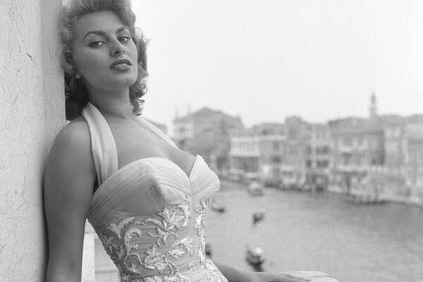 Sophia Loren, Venice, 1955.