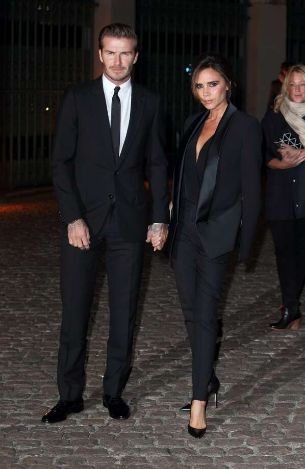 David and Victoria Beckham don't leave home without looking good. Photo: Mike Marsland, WireImage