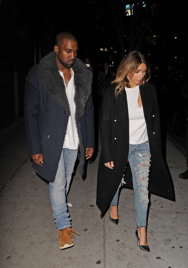 Even though Kim Kardashian and Kanye West have had quite a few misses (Kanye's leather skirt and Kim's upholstery dress come to mind), you have to appreciate their willingness to try something new even after so many bombs. Photo: NCP/Star Max, FilmMagic