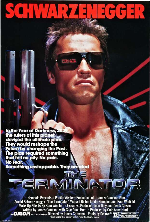 "Arnold Schwarzenegger is seen on the poster for the movie ""The Terminator,"" 1984.Related Slideshow: More movies turning 30 in 2014 Photo: Buyenlarge, Getty Images / Moviepix"