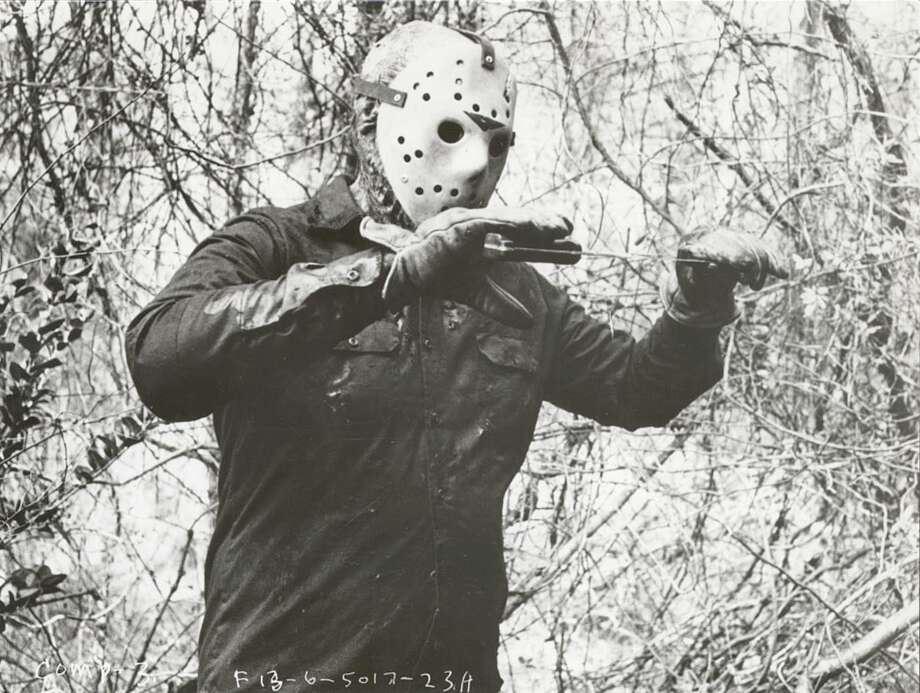 "Spoiler alert: It wasn't. This scene actually shows hockey-mask-clad killer Jason Voorhees in a scene from 1986's ""Jason Lives: Friday the 13th Part VI."" Photo: JAMES H. ARMFIELD, Paramount / 1986 TERROR INC."