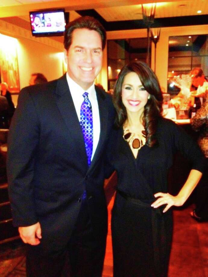 Co-anchor Steve Spriester (with Isis Romero) praised Boyle's leadership. Photo: Courtesy