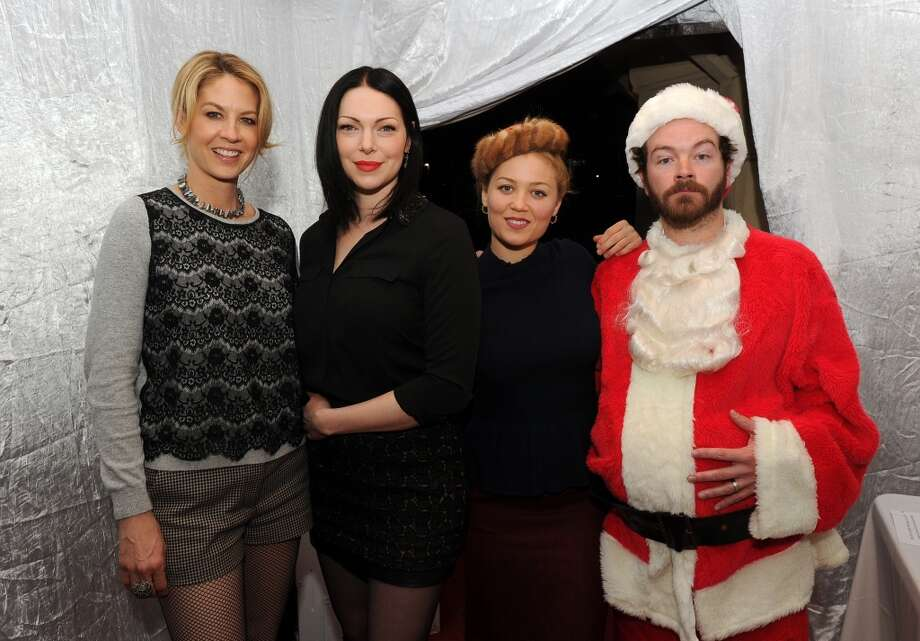 "(L-R) Jenna Elfman, Laura Prepon, Erika Christensen and Danny Masterson attend the Church of Scientology Celebrity Centre's 21st ""Christmas Stories"" at the Church of Scientology Celebrity Centre on December 14, 2013 in Los Angeles, California. ""Christmas Stories"" benefits the Hollywood Police Department's Youth Development Programs for underprivileged children. Photo: Kevin Winter, Getty Images"