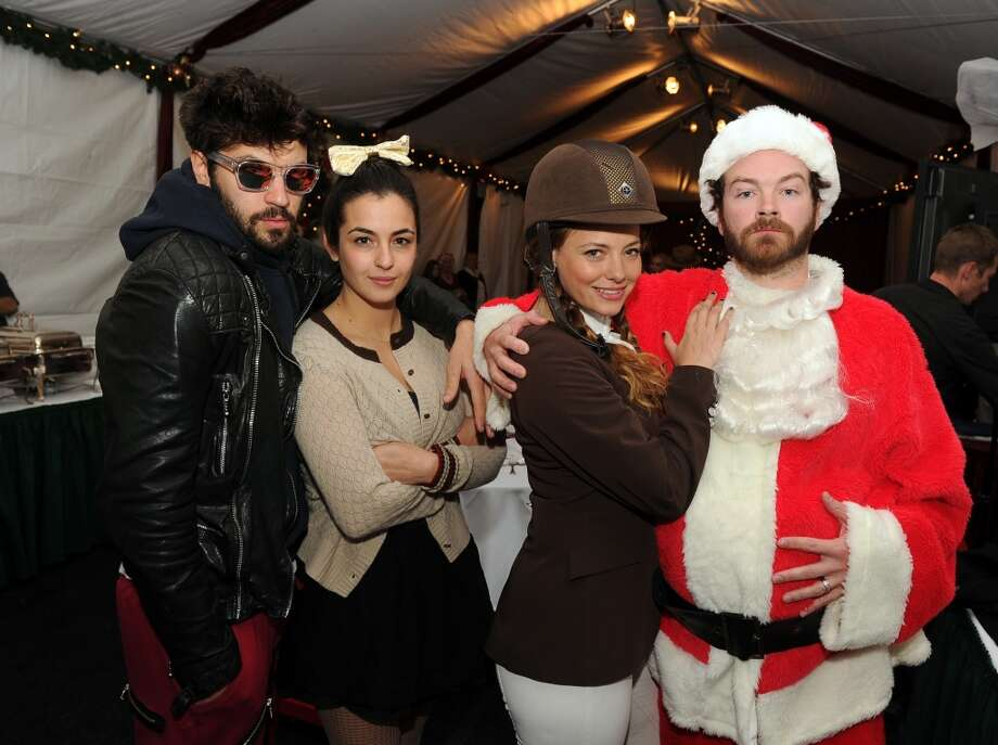 "(L-R) Jordan Masterson, Alanna Masterson, Bijou Phillips and Danny Masterson attend the Church of Scientology Celebrity Centre's 21st ""Christmas Stories"" at the Church of Scientology Celebrity Centre on December 14, 2013 in Los Angeles, California. ""Christmas Stories"" benefits the Hollywood Police Department's Youth Development Programs for underprivileged children. Photo: Kevin Winter, Getty Images"