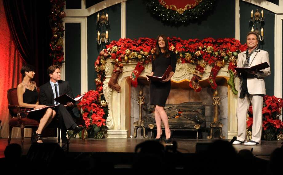 "(L-R) Catherine Bell, Mike Falkow, Michelle Stafford and Martin Kove perform onstage during the Church of Scientology Celebrity Centre's 21st ""Christmas Stories"" at the Church of Scientology Celebrity Centre on December 14, 2013 in Los Angeles, California. ""Christmas Stories"" benefits the Hollywood Police Department's Youth Development Programs for underprivileged children. Photo: Kevin Winter, Getty Images"