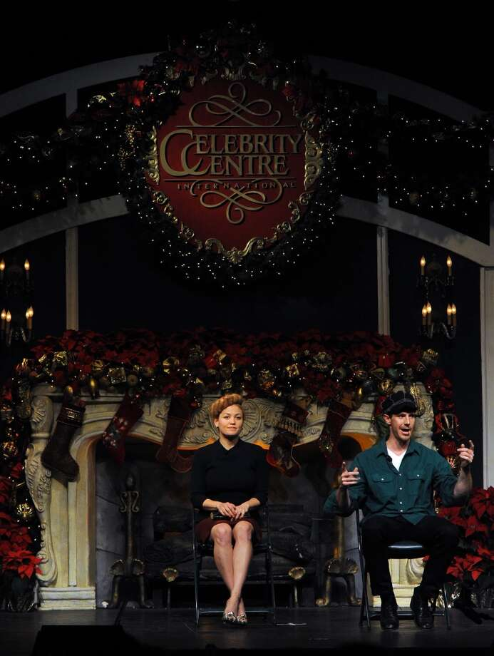 "Erika Christensen (L) and Jason Dohring perform onstage during the Church of Scientology Celebrity Centre's 21st ""Christmas Stories"" at the Church of Scientology Celebrity Centre on December 14, 2013 in Los Angeles, California. ""Christmas Stories"" benefits the Hollywood Police Department's Youth Development Programs for underprivileged children. Photo: Kevin Winter, Getty Images"