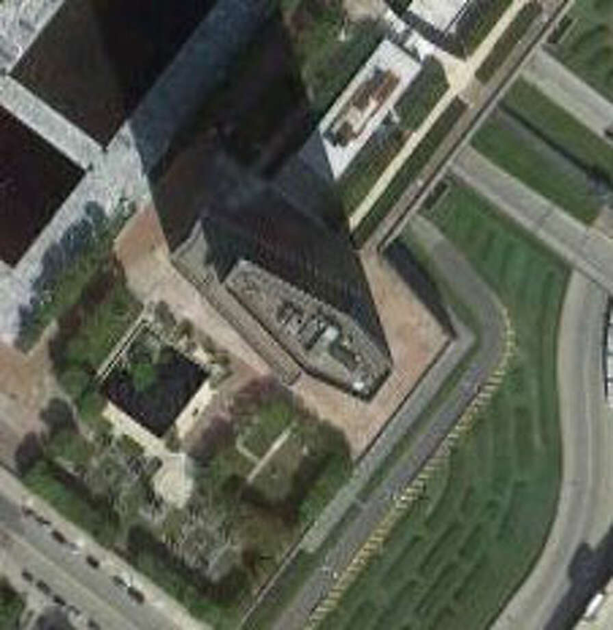 You can tell this is a tall structure by the shadow it casts. Photo: Google Maps Image