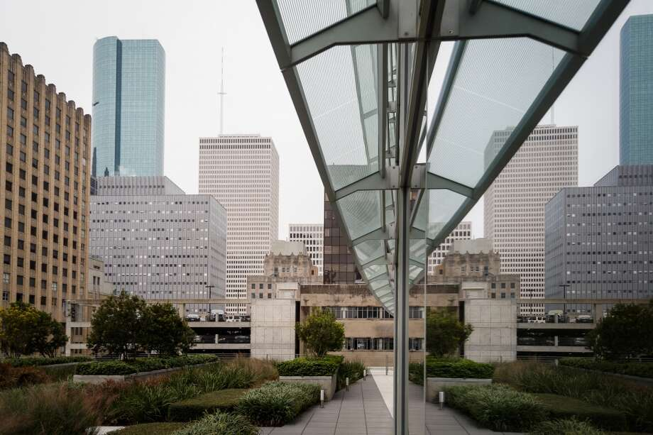 The rooftop terrace at BG Group Place at 811 Main St, Wednesday, Dec. 11, 2013, in Houston.  The building is one of several real estate developments that are finalists in the Urban Land Institutes's 2013 Development of Distinction Awards. Photo: Michael Paulsen, Houston Chronicle