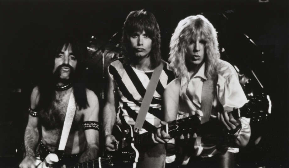 "Harry Shearer (from left), Christopher Guest and Michael McKean star as the heavy metal band Spinal Tap in the mockumentary ""This is Spinal Tap."" Photo: Getty Images"
