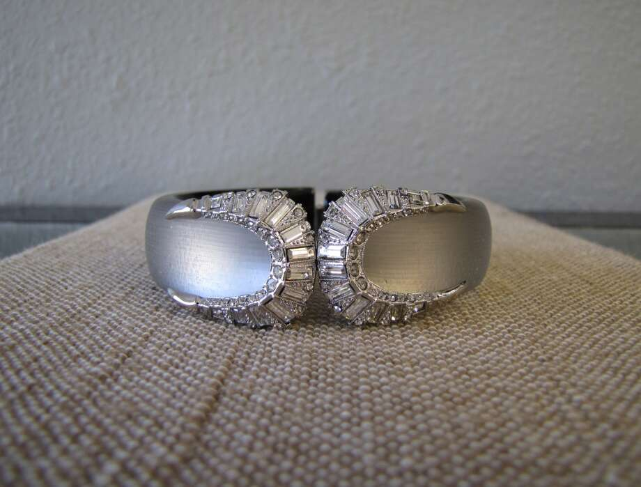 Lucite and crystal hinged bracelet, Alexis Bittar, $295 Photo: Cat5