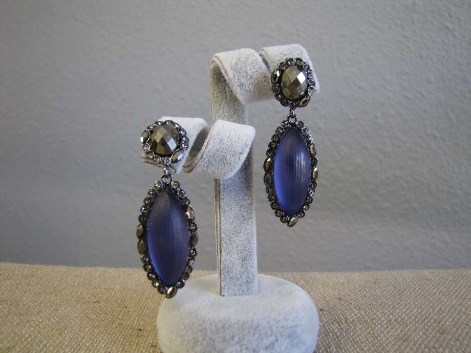 Lucite and crystal drop earrings, Alexis Bittar, $250 Photo: Cat5