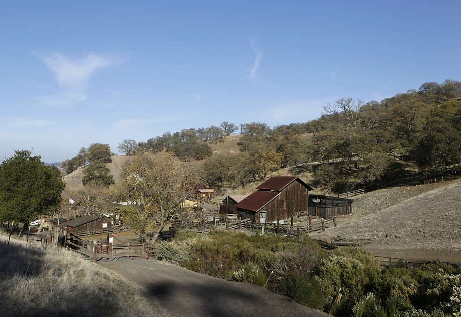 Borges Ranch Park has a blacksmith shop, a barn, a wagon shed and the Borges family home. Photo: Paul Chinn, The Chronicle