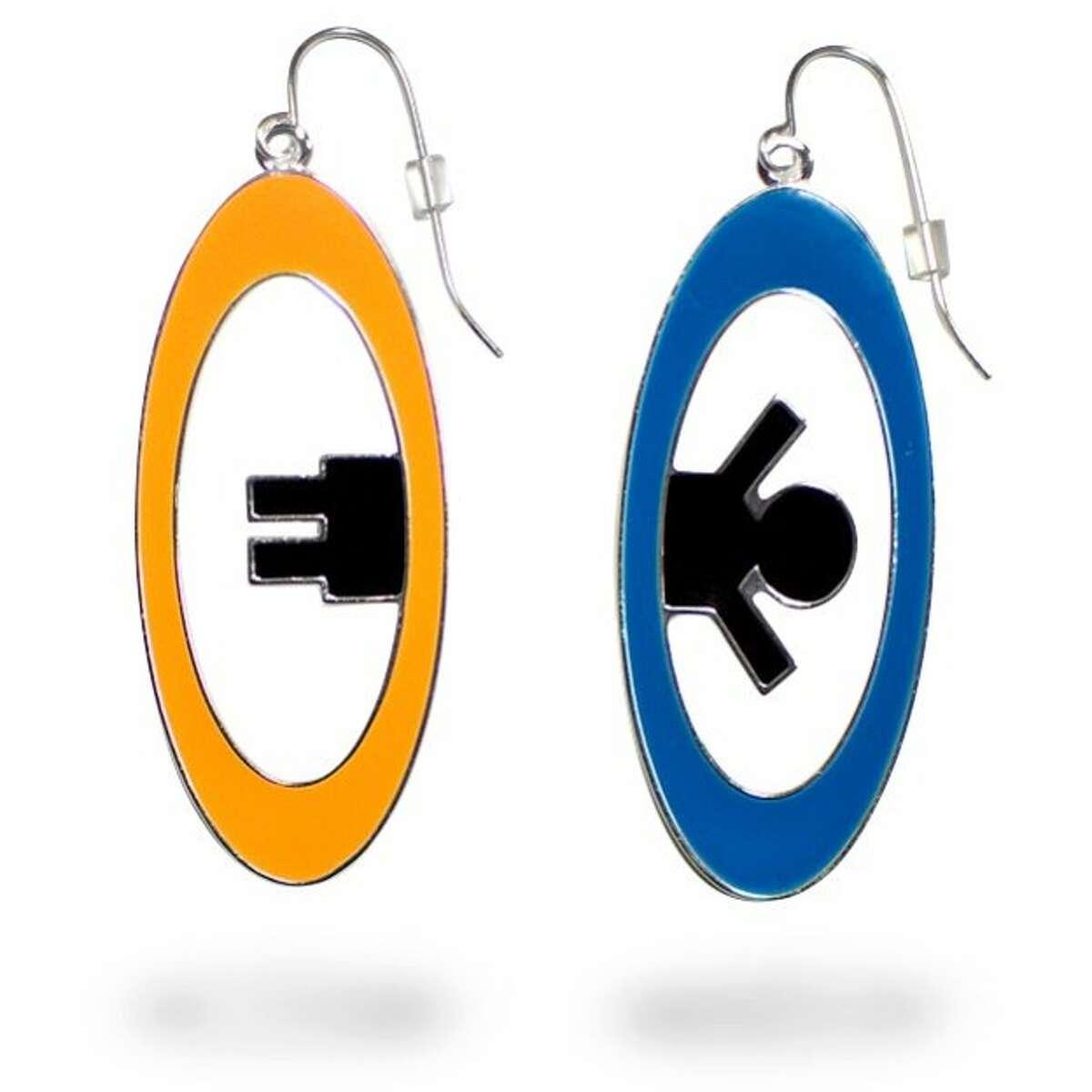 Portal earrings from Thinkgeek.com
