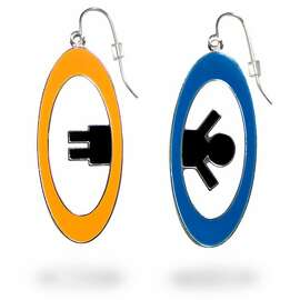 Portal earrings from Thinkgeek.com