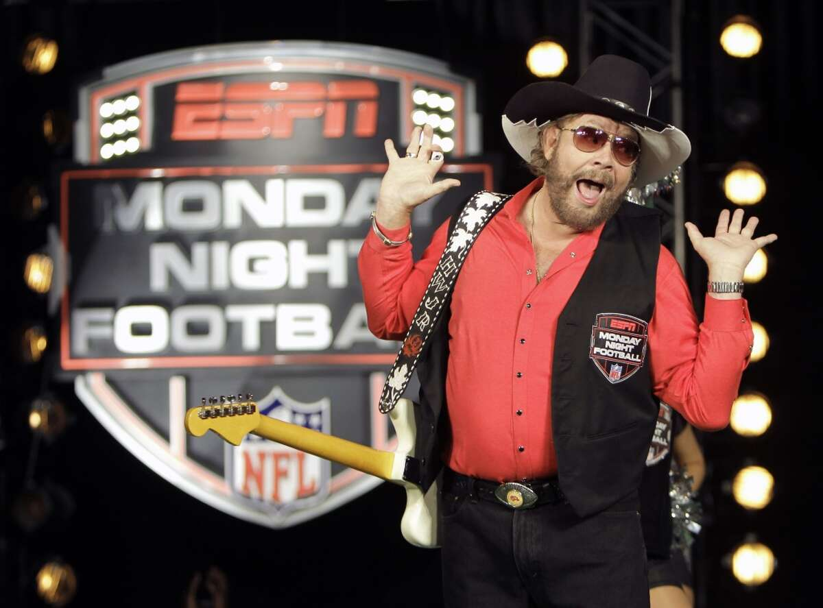 """ESPN pulled Hank Williams Jr.'s classic intro song from its Monday night's NFL games after the country singer famous for the line """"Are you ready for some football?"""" used an analogy to Adolf Hitler in discussing President Barack Obama's golf game with GOP House Speaker John Boehner. """"Come on. That'd be like Hitler playing golf with Netanyahu,"""" he said to Fox News. (AP Photo/John Raoux, File)"""