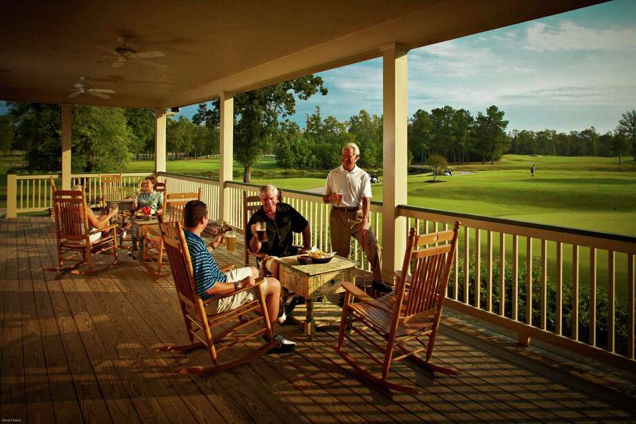 Accesssible to Lake Conroe and The Woodlands, Woodforest offers residents wooded homesites and an array of resort-quality amenities, including Woodforest Golf Club, one of the state's top courses. / Steve Chenn