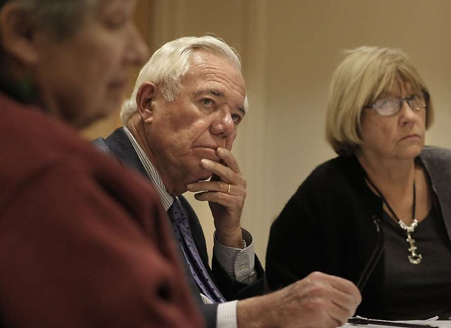 Focus group participant Jim Seely listens to presentations about products for seniors at the Sequoias in San Francisco. Photo: Michael Macor, The Chronicle