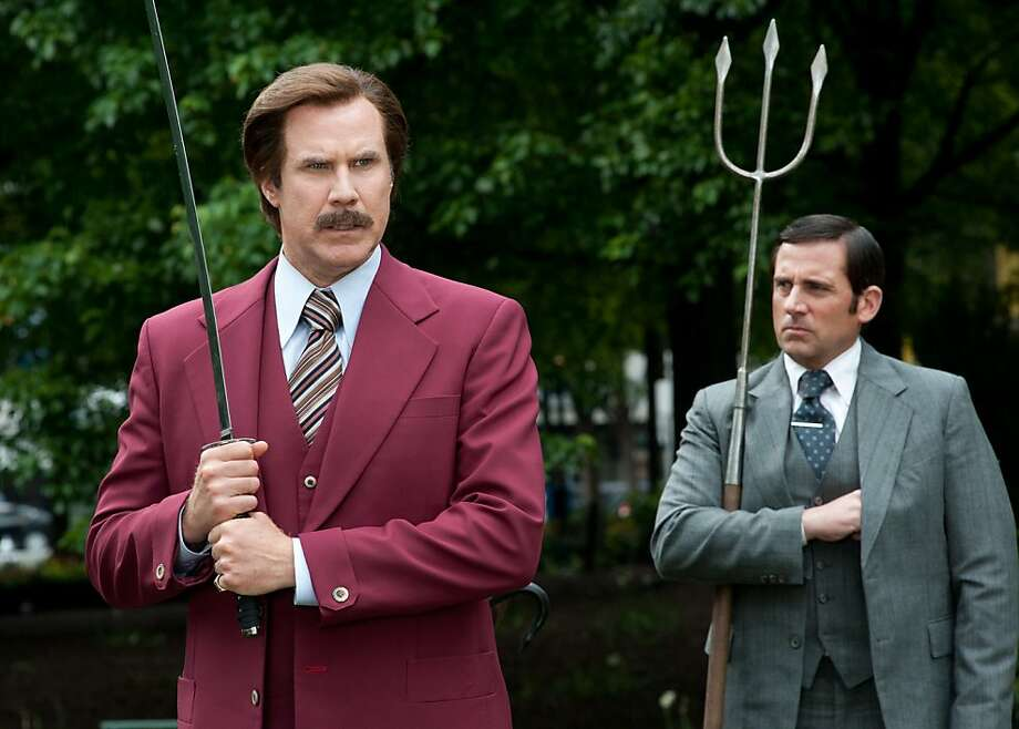 "Will Ferrell reprises the role of Ron Burgundy in ""Anchorman 2."" Photo: Gemma LaMana, Paramount Pictures"