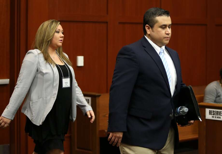 FILE - SEPTEMBER 9, 2013:  It was reported that George Zimmerman was placed in investigative detention after an apparent domestic altercation with his estranged wife, Shellie and her father September 9, 2013 at a home in Lake Mary, Florida. SANFORD, FL - JUNE 20: George Zimmerman and his wife Shellie arrive in Seminole circuit court June 20, 2013 in Sanford, Florida. Zimmerman is charged with second-degree murder for the February 2012 shooting death of 17-year-old Trayvon Martin.  (Photo by Gary W. Green-Pool/Getty Images) Photo: Getty Images