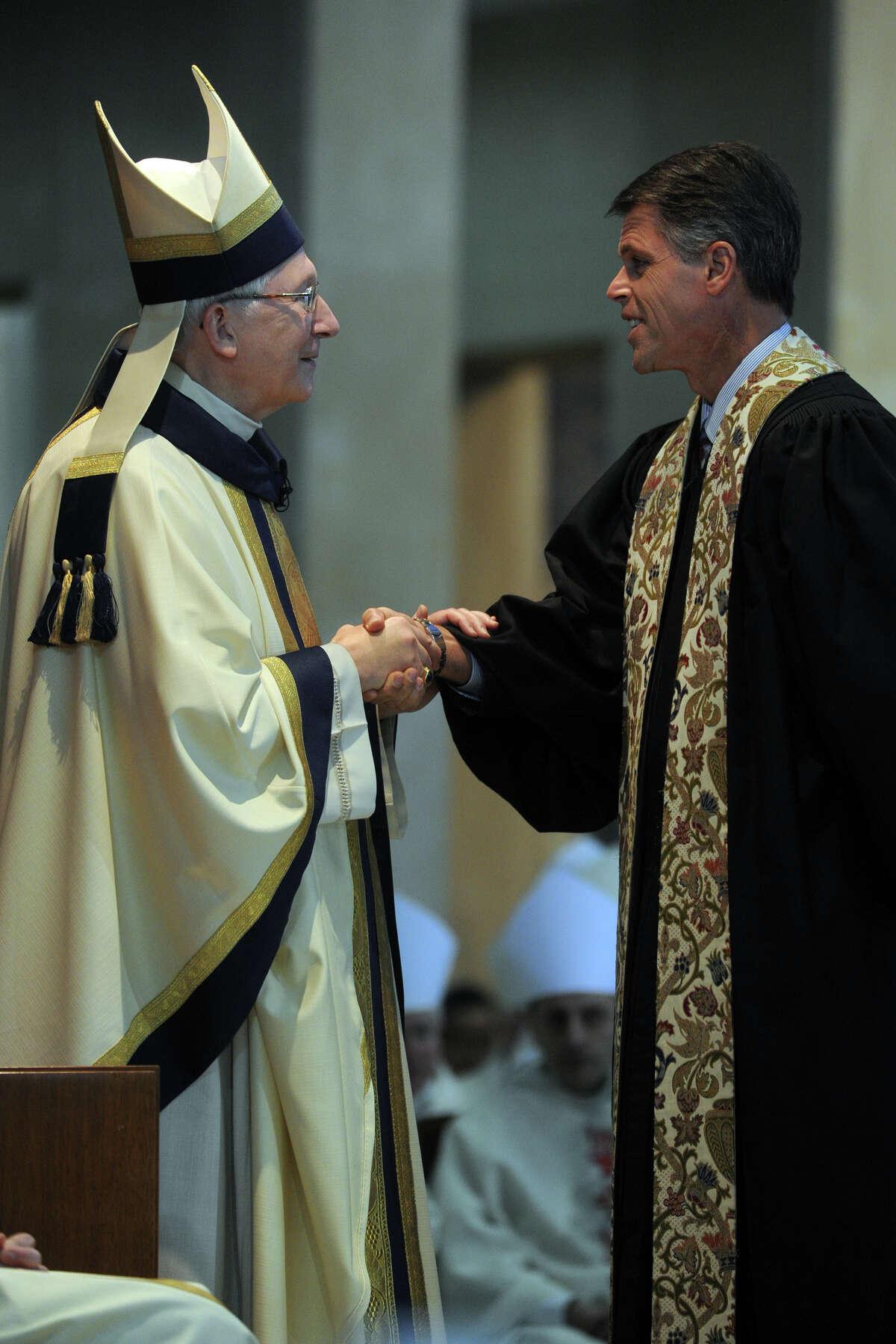 Mass of Installation for Archbishop Leonard P. Blair, Cathedral of Saint Joseph in Hartford, Conn., Dec. 16, 2013.