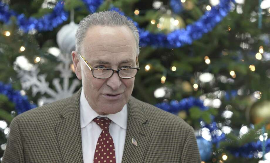 Senator Chuck Schumer spoke at the Saratoga Springs Train Station during a press conference on expiring short-line railroad tax credit and his efforts to exten it so that the Saratoga and North Creek Railway can undertake needed improvements Dec. 16, 2013 in Saratoga Springs, N.Y.    (Skip Dickstein / Times Union) Photo: Skip Dickstein / 00025045A