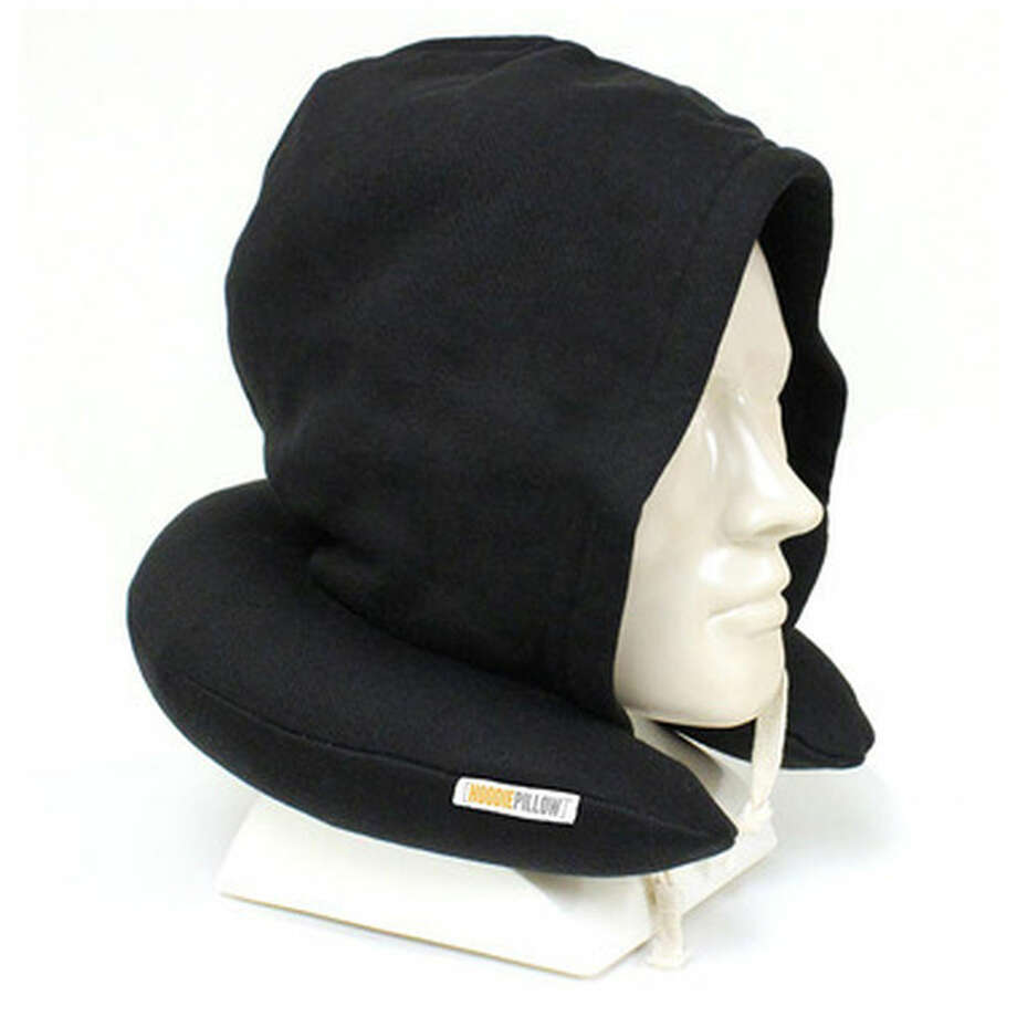 No. 8: Travel HoodiePillow (Sky Mall). Apparently, the missing element from those U-shaped travel pillows is a hood that makes you look like the Unibomber. Sweet dreams? http://www.skymall.com/travel-hoodiepillow/27210GRP.html Photo: SkyMall.com