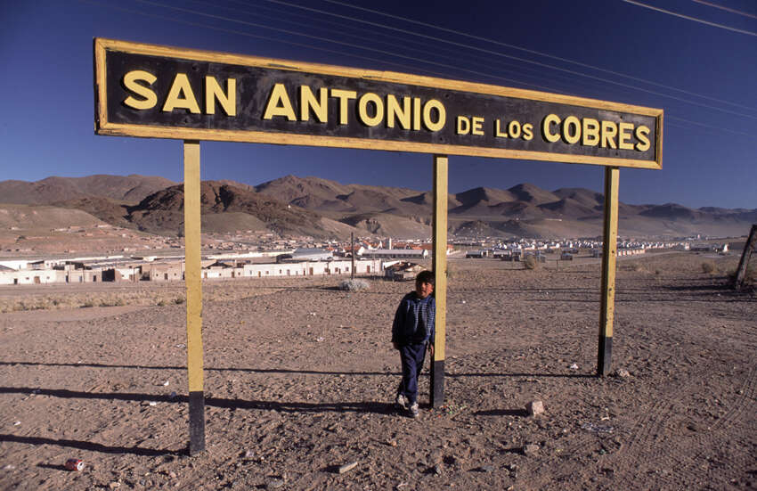 San Antonio de los Cobres is known for The Train to the Clouds, a rail service that connects the Argentine Northwest with the border with Chile in the Andes mountain range, more than 13,000 feet above mean sea level, the third highest railway in the world.