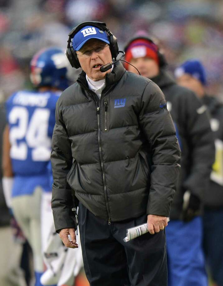 EAST RUTHERFORD, NJ - DECEMBER 15: Head coach Tom Coughlin of the New York Giants looks on during the 2nd half of the Seattle Seahawks 23-0 win over the New York Giants at MetLife Stadium on December 15, 2013 in East Rutherford, New Jersey. (Photo by Ron Antonelli/Getty Images) ORG XMIT: 187471842 Photo: Ron Antonelli / 2013 Getty Images