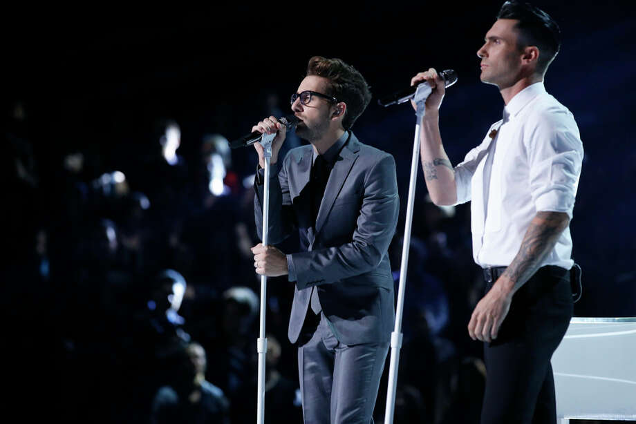 "THE VOICE -- ""Live Show"" Episode 519A -- Pictured: (l-r) Will Champlin, Adam Levine -- (Photo by: Trae Patton/NBC) Photo: NBC, Trae Patton/NBC / 2013 NBCUniversal Media, LLC"