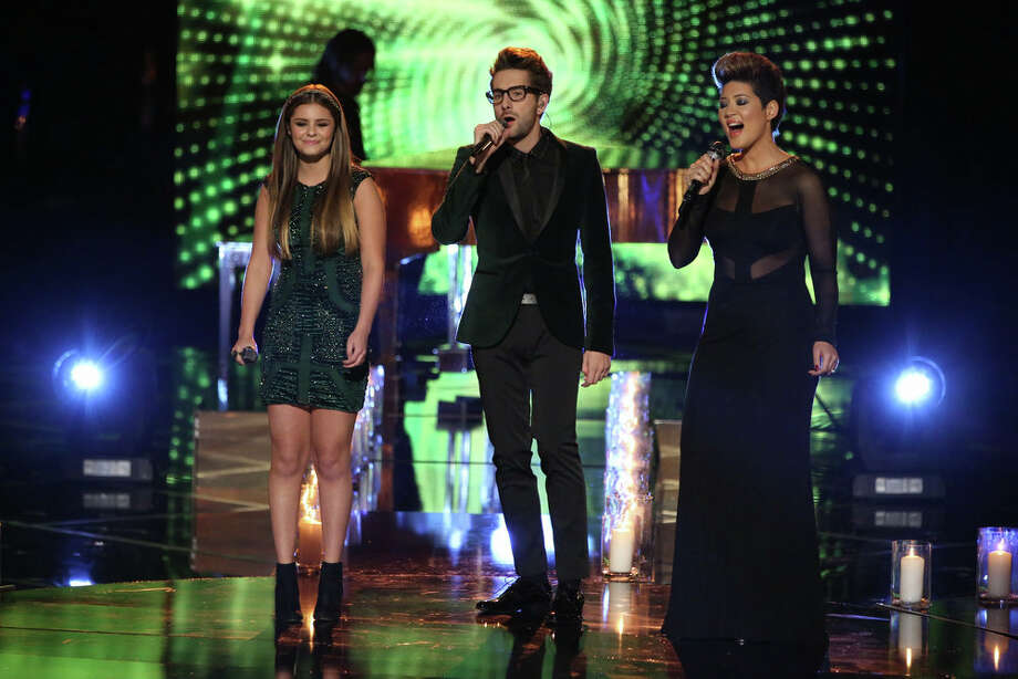 "THE VOICE -- ""Live Show"" Episode 519A -- Pictured: (l-r) Jacquie Lee, Will Champlin, Tessanne Chin -- (Photo by: Tyler Golden/NBC) Photo: NBC, Tyler Golden/NBC / 2013 NBCUniversal Media, LLC"
