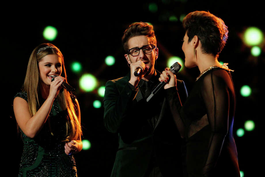 "THE VOICE -- ""Live Show"" Episode 519A -- Pictured: (l-r) Jacquie Lee, Will Champlin, Tessanne Chin -- (Photo by: Trae Patton/NBC) Photo: NBC, Trae Patton/NBC / 2013 NBCUniversal Media, LLC"