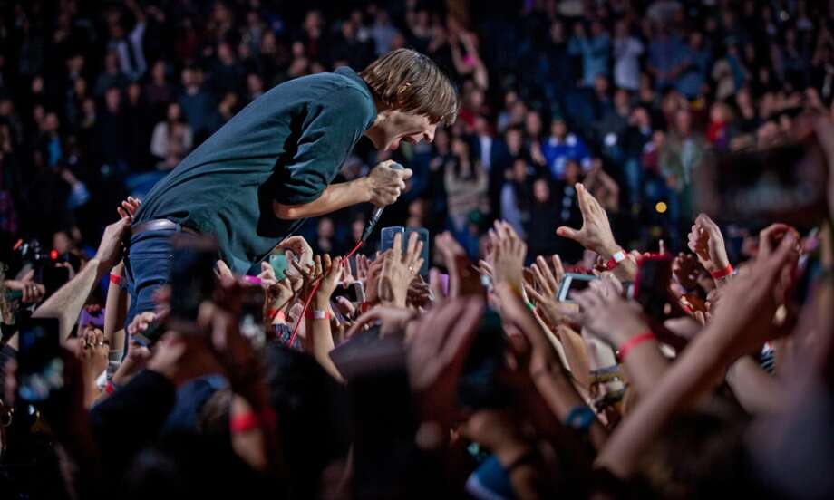Phoenix  performs at Live 105's Not So Silent Night concert at Oracle Arena in Oakland on December 7, 2013. Photo: FilterlessCo