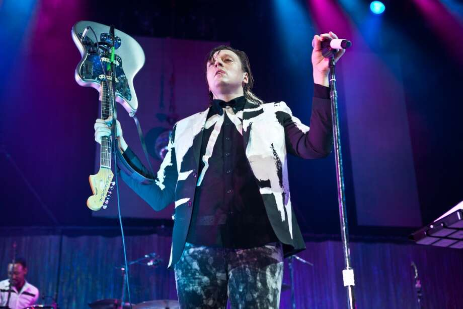 Arcade Fire  performs at Live 105's Not So Silent Night concert at Oracle Arena in Oakland on December 7, 2013. Photo: FilterlessCo