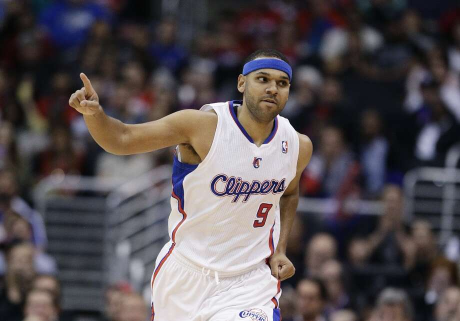 Los Angeles Clippers' Jared Dudley reacts after making a three-point basket against the San Antonio Spurs during the first half of an NBA basketball game on Monday, Dec. 16, 2013, in Los Angeles. Photo: Jae C. Hong, Associated Press