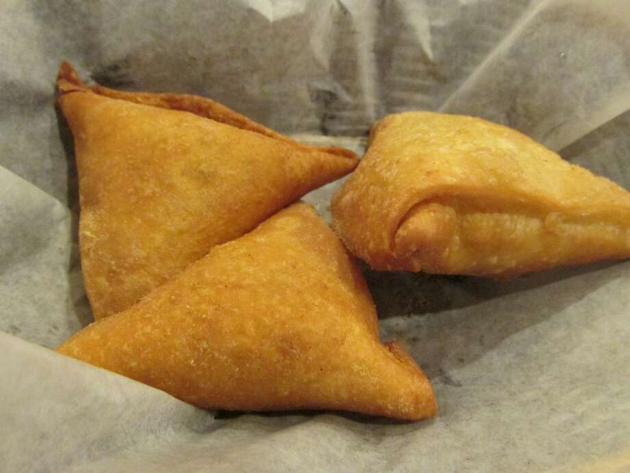 Vegetable samosas at Taz Indian Cuisine in Beaumont. Photo: Cat5
