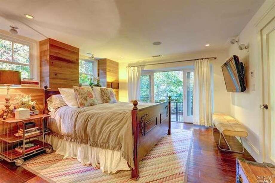 Master bedroom. Photos via Estately  /Pacific Union International