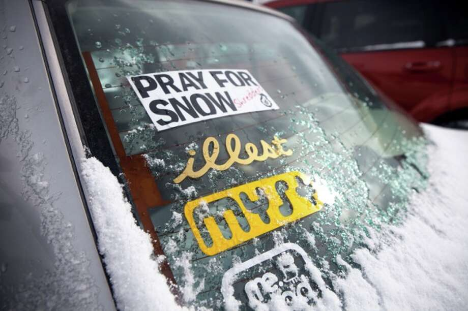When all else fails, pray for snow. Photo: Sarah Fox