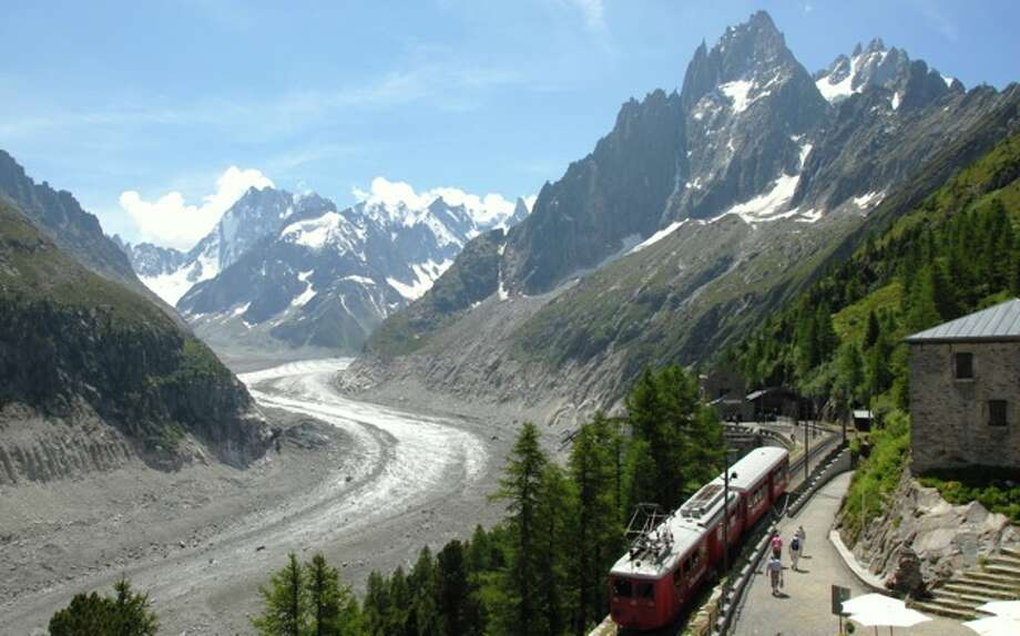 The Mer de Glace and Montenvers train in 2009. Chamonix, France Photo: Luc Moreau