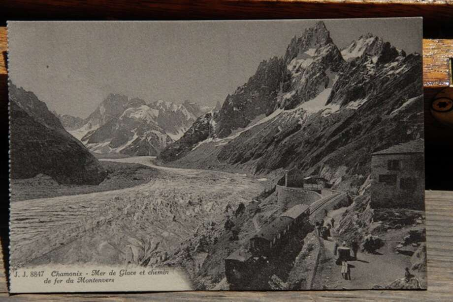 The Mer de Glace in 1915. Chamonix, France. Note how much snow we've lost. Photo: JFK Charlet