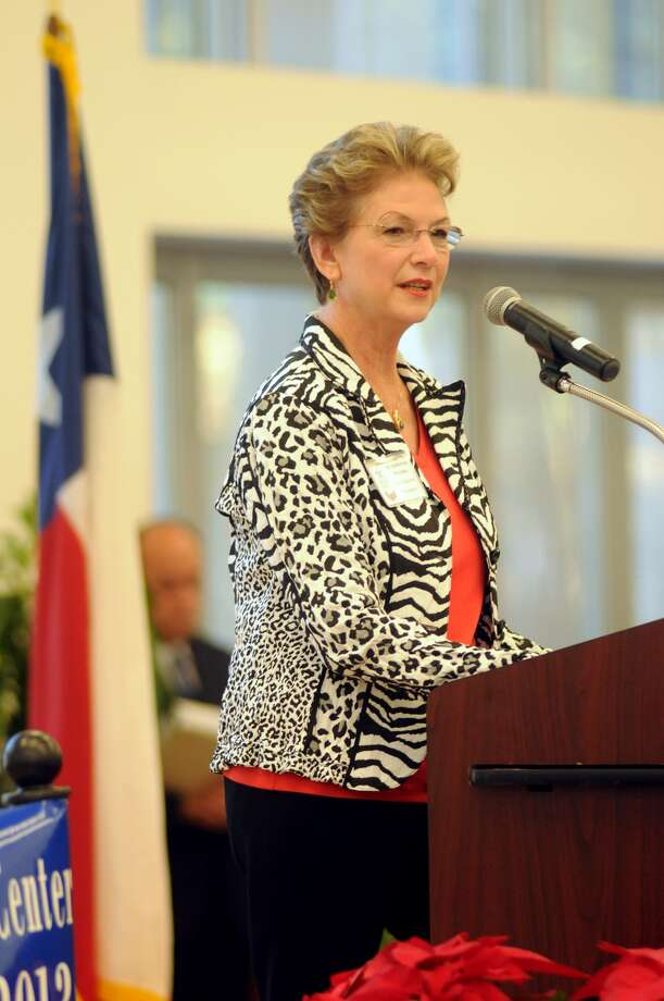 Katherine Persson, Ph.D. and President of Lone Star College - Kingwood, makes her remarks during the dedication ceremony of the John E. Pickelman Student Conference Center at LSC - Kingwood on Dec. 10. Photo: Jerry Baker, Freelance