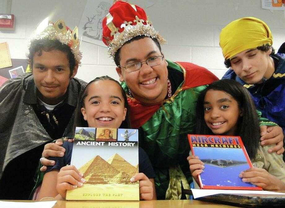 Some of the students in the Spanish Heritage group in Humble have been helped by the Will's Kids project. Photo: Courtesy