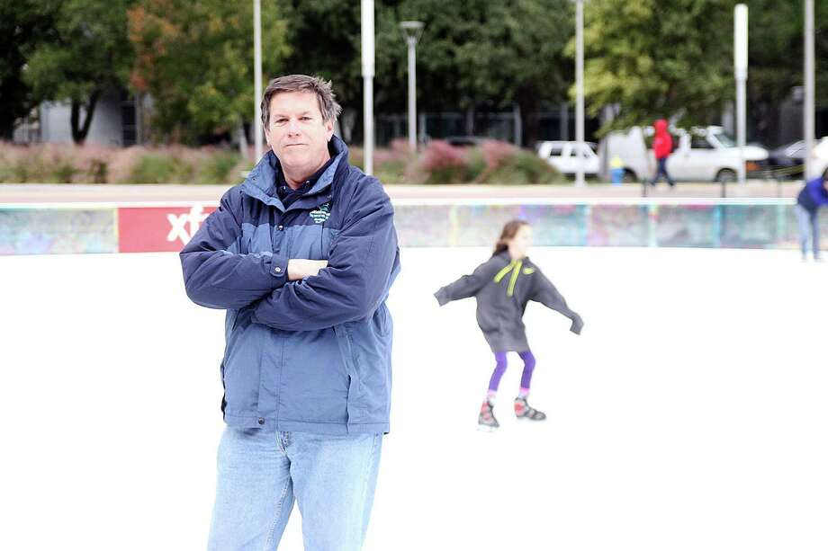 Mike Clayton created the Woodlands Ice Rink. Also responsible for Discovery Green Rink and over 50 outdoor rinks worldwide. Photo by Pin Lim. Photo: Pin Lim, Freelance / Copyright Pin Lim.