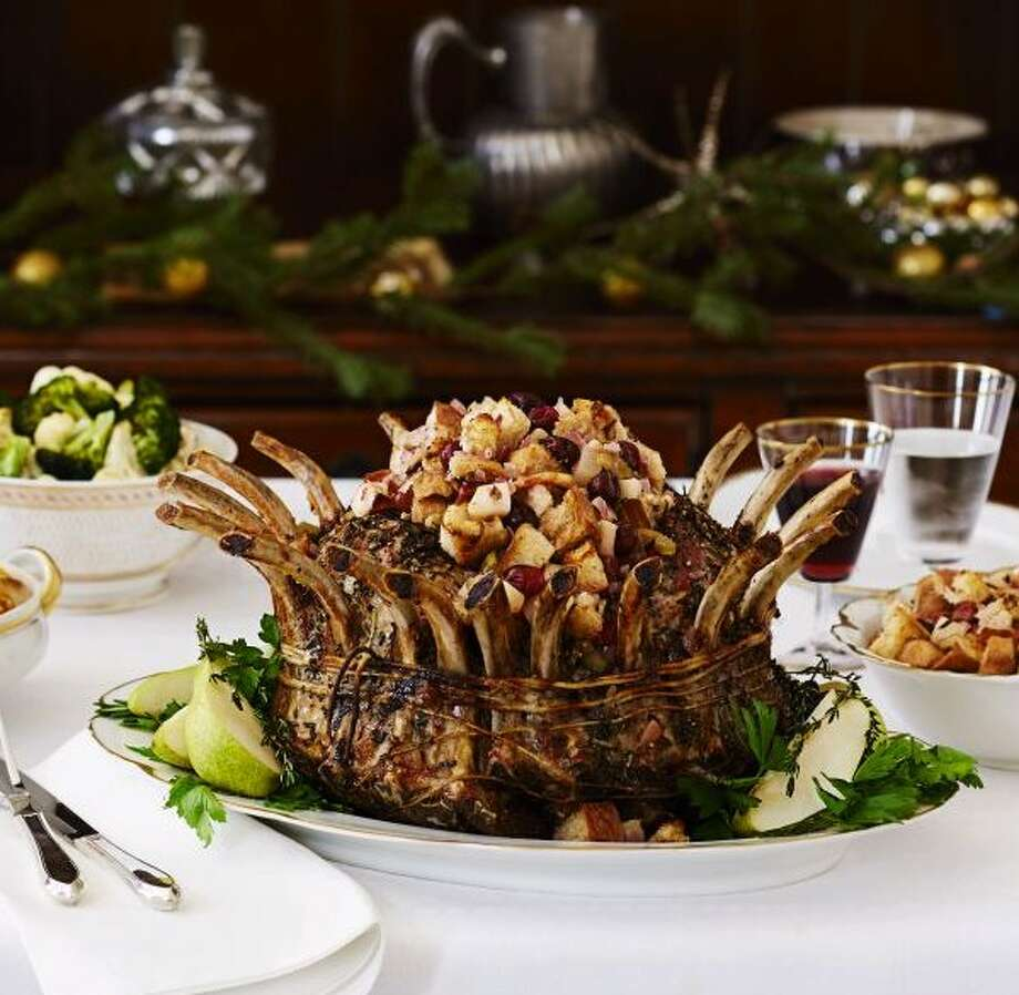 Pork Crown Roast with Pear Stuffing From Good Housekeeping Photo: Kate Mathis