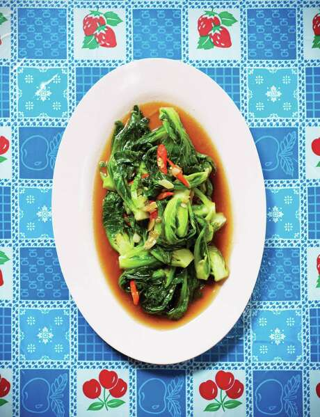 """Phat Khanaeng (Stir-Fried Brussels Sprouts) from """"Pok Pok: Food and Stories from the Streets, Homes and Roadside Restaurants of Thailand"""" by Andy Ricker with JJ Goode (Ten Speed Press). Photo: Ten Speed Press / Ten Speed Press"""