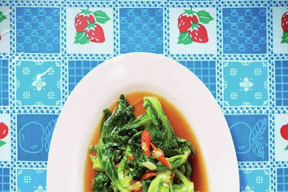 "Phat Khanaeng (Stir-Fried Brussels Sprouts) from ""Pok Pok: Food and Stories from the Streets, Homes and Roadside Restaurants of Thailand"" by Andy Ricker with JJ Goode (Ten Speed Press)."