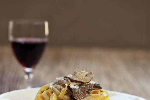 "Tagliatelle with Porcini Trifolati from ""The Scarpetta Cookbook"" by Scott Conant (Houghton Mifflin Harcourt)"