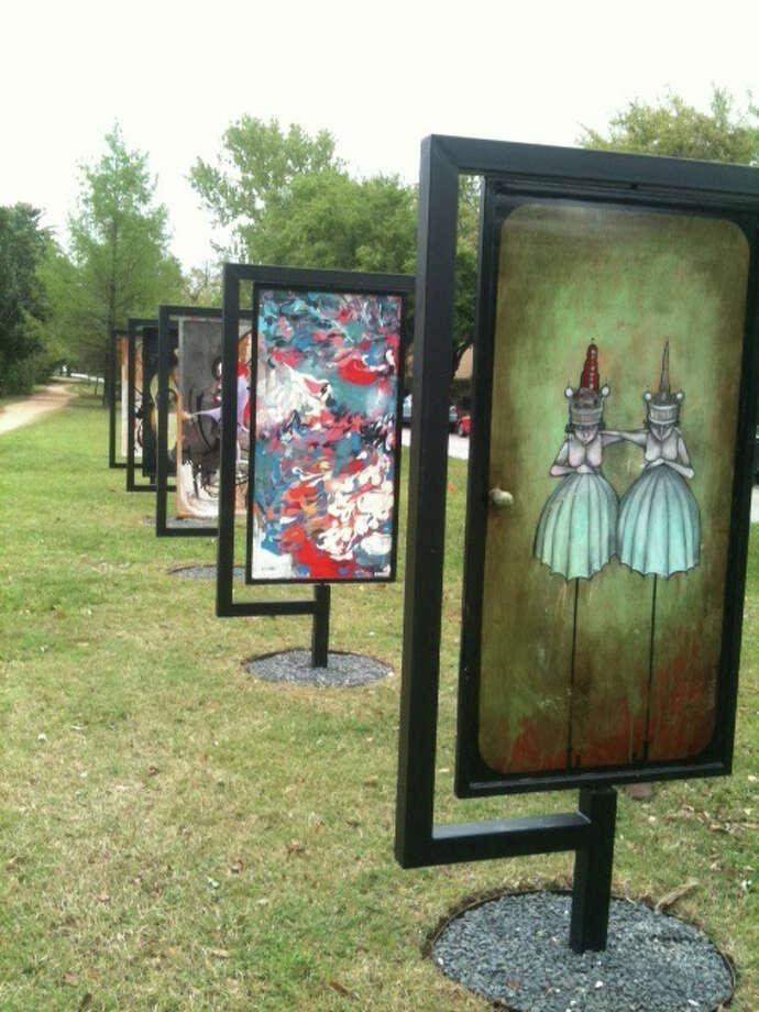 "The Hope Stone Kids Ensemble danced Nov. 21 at the ""Open the Door"" art installation."