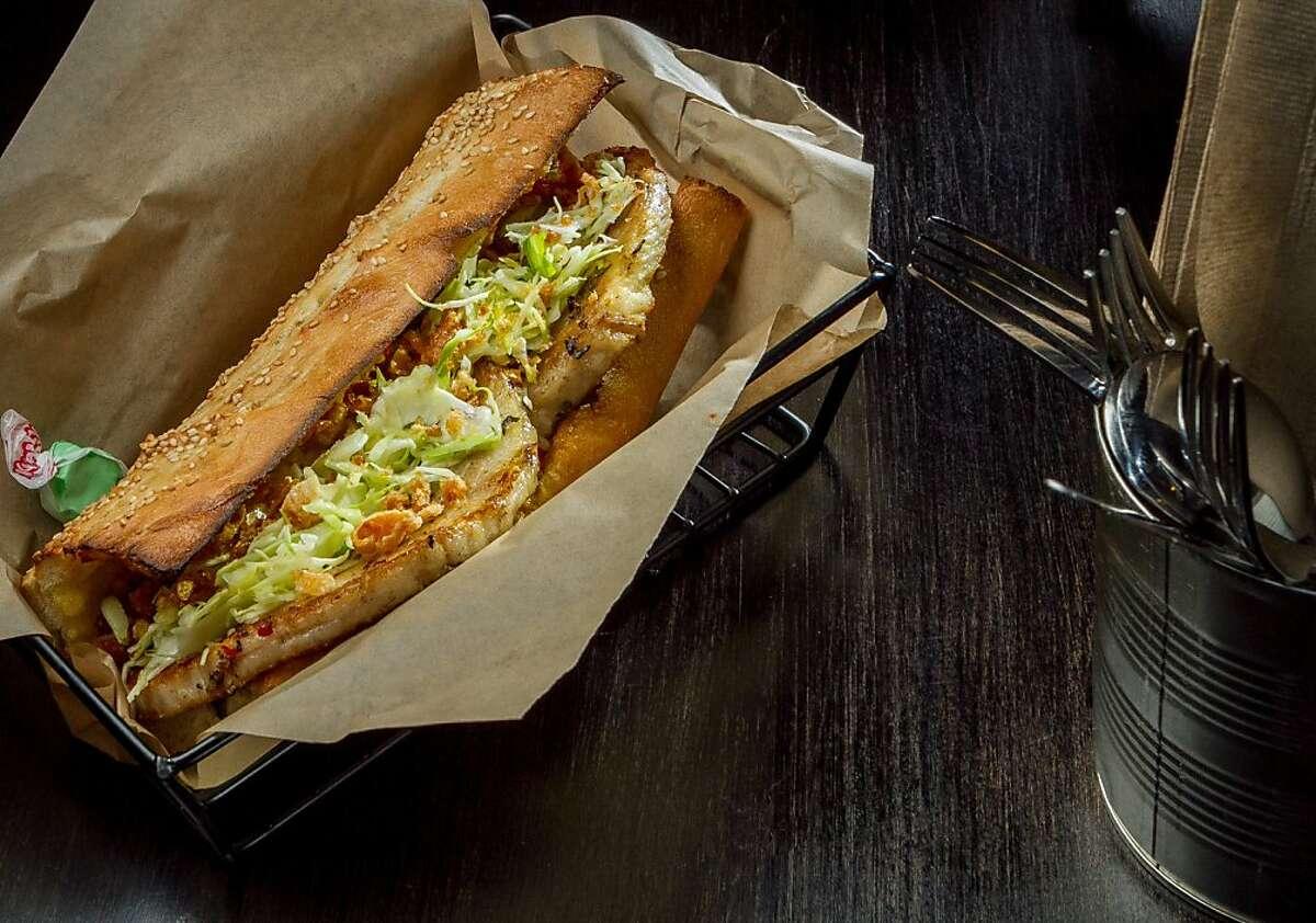 The Porchetta sandwich at Merigan in San Francisco, Calif., is seen on December 12th, 2013.